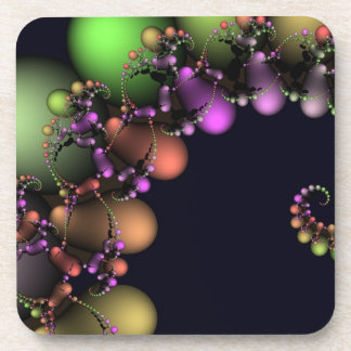 Burbujas abstractas festivas posavasos de bebida