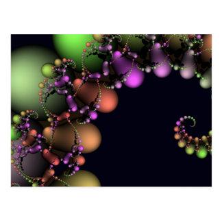 Burbujas abstractas festivas tarjetas postales