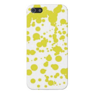 Burbujas amarillas iPhone 5 funda