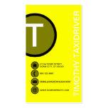 burbujas amarillas plantillas de tarjeta de negocio