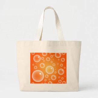 Burbujas anaranjadas bolsa tela grande