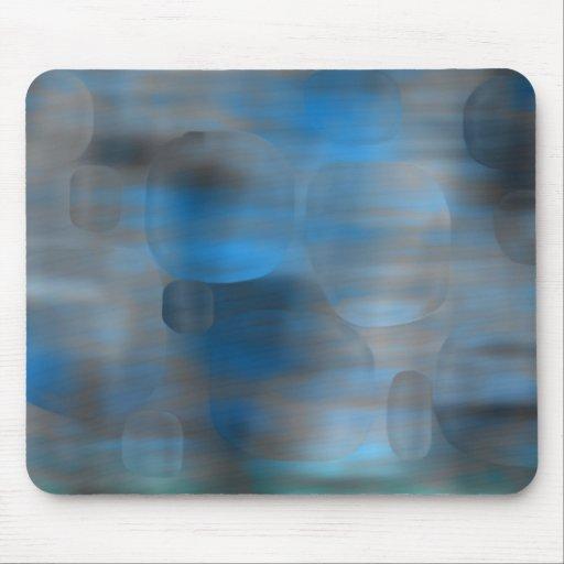 Burbujas azules alfombrillas de ratones