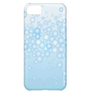 Burbujas azules del baño funda para iPhone 5C