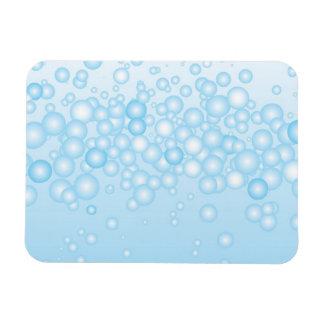 Burbujas azules del baño iman de vinilo