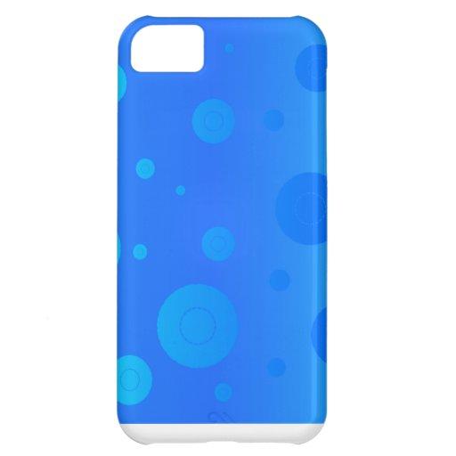 Burbujas azules funda para iPhone 5C