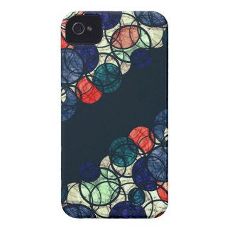 Burbujas azules y anaranjadas carcasa para iPhone 4