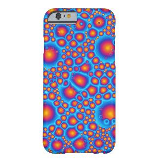 Burbujas azules y anaranjadas funda barely there iPhone 6