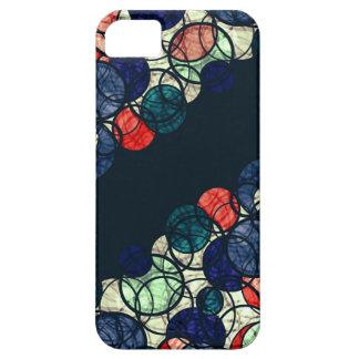 Burbujas azules y anaranjadas funda para iPhone SE/5/5s