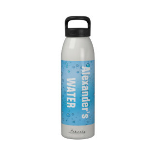 Burbujas azules y claras acuáticas personalizadas  botallas de agua