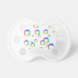 Burbujas - colores del arco iris chupetes de bebé