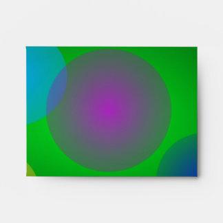 Burbujas coloridas en verde oscuro