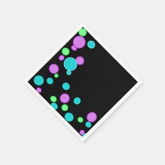 Burbujas coloridas servilletas desechables
