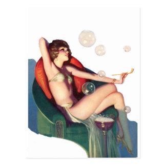 Burbujas con un Pin-para arriba clásico Tarjeta Postal