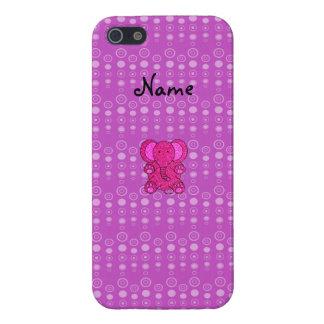 Burbujas conocidas personalizadas de la púrpura de iPhone 5 carcasas