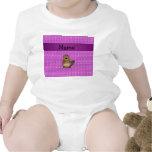 Burbujas conocidas personalizadas de la púrpura trajes de bebé