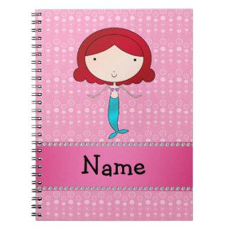 Burbujas conocidas personalizadas del rosa de la s cuaderno