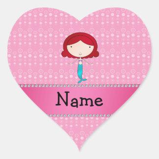 Burbujas conocidas personalizadas del rosa de la s pegatinas corazon