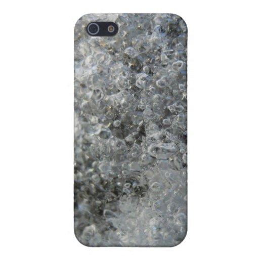 Burbujas cristalinas abstractas congeladas del hie iPhone 5 carcasas