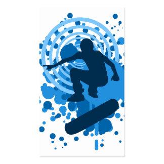 burbujas de alta fidelidad del monopatín plantillas de tarjetas de visita