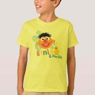 Burbujas de Ernie y de Duckie Playera