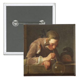Burbujas de jabón, C. 1733 - 34 (aceite en lona) Pin Cuadrada 5 Cm