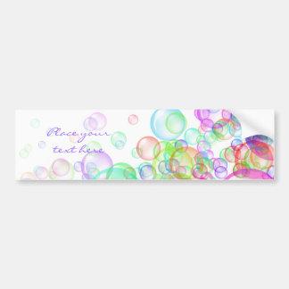 Burbujas de jabón pegatina para coche