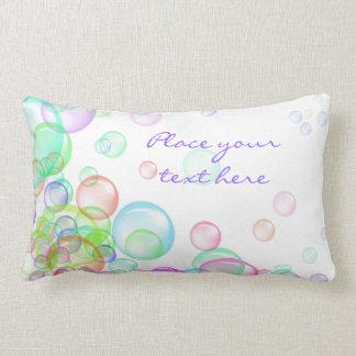 Burbujas de jabón almohadas