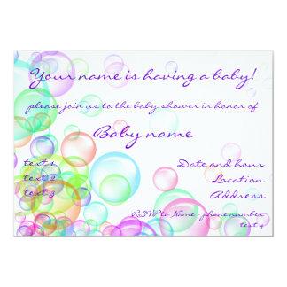 Burbujas de jabón invitacion personalizada