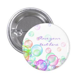 Burbujas de jabón pin redondo 2,5 cm
