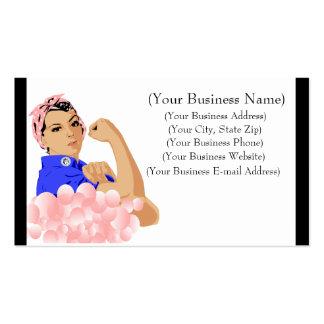 Burbujas de jabón rosadas estupendas tarjetas de negocios