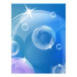 Burbujas de jabón tarjetas publicitarias