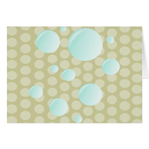 burbujas de la burbuja del amor tarjeta de felicitación