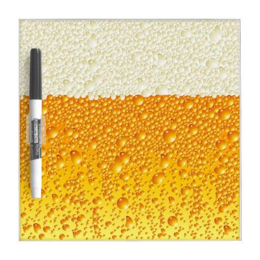 burbujas de la cerveza pizarra
