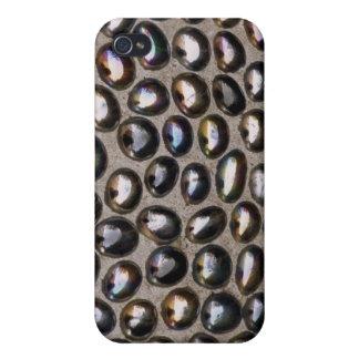 Burbujas de la cuenta de cristal iPhone 4 carcasa