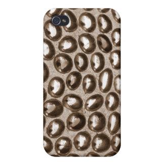 Burbujas de la cuenta de cristal iPhone 4 protectores