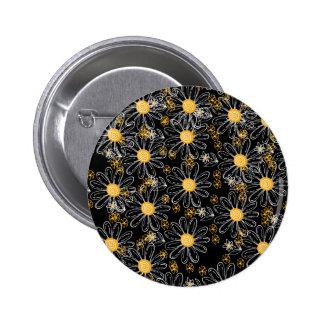 Burbujas de la margarita pin redondo 5 cm