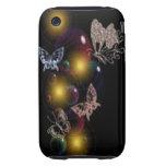 Burbujas de la mariposa iPhone 3 tough fundas