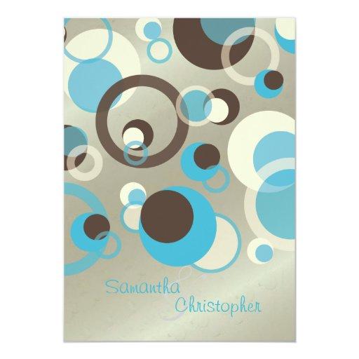 """Burbujas de la MOD/invitaciones contemporáneas 5x7 Invitación 5"""" X 7"""""""