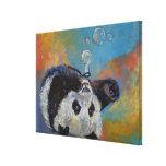 Burbujas de la panda impresión de lienzo