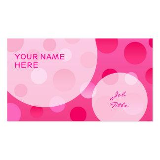 Burbujas de la plantilla de la tarjeta de visita d