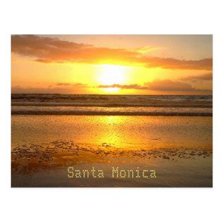 Burbujas de la playa del viaje de Santa Mónica Tarjetas Postales