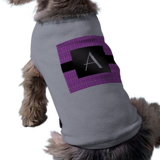 Burbujas de la púrpura del monograma playera sin mangas para perro