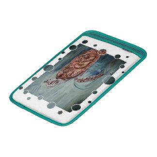 Burbujas de la tortuga de mar verde funda  MacBook