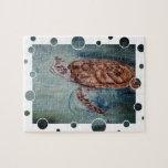 Burbujas de la tortuga de mar verde rompecabezas