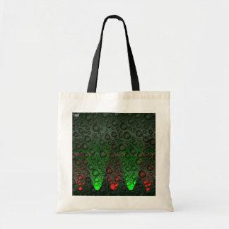 Burbujas de levantamiento verdes/bolso rojo bolsa