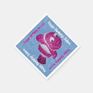 Burbujas de los pescados n (rosa) servilleta desechable