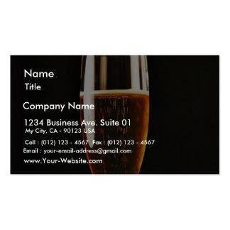 Burbujas de los vidrios de cerveza plantillas de tarjetas personales