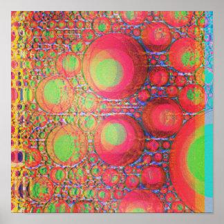 Burbujas de neón póster