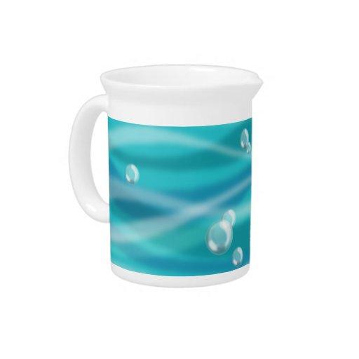 Burbujas del agua jarrones