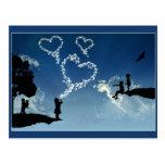 Burbujas del amor postal